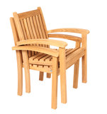 Traditional Teak Victoria stacking chair_