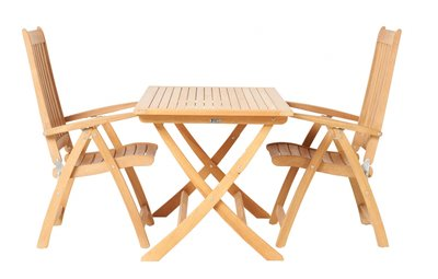 ALEXIA Teak folding table square 70 x 70 cm