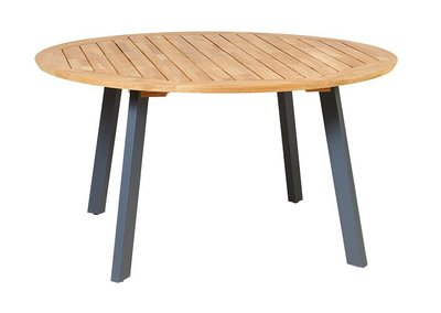 Traditional Teak DIANA MOSAIC table aluminium antraciet legs