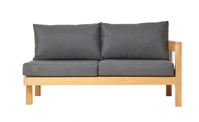 Traditional Teak MAXIMA lounge bench 2-seater