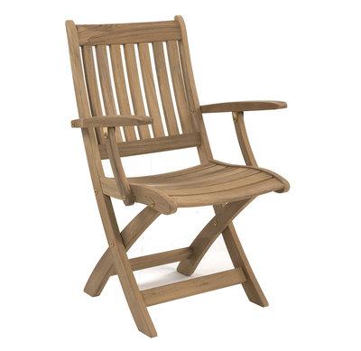 Ocean folding armchair (Stainless steel fittings)