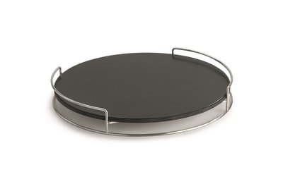 Pizza stone with holder for Lotus Grill Classic