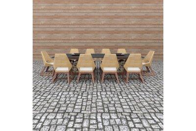Quan Garden Art Tafelset met 6 stoelen