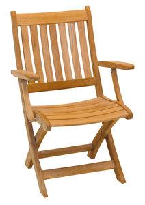Traditional Teak ALEXIA folding armchair
