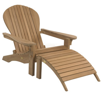 Adirondack Lounger inclusive Footstool